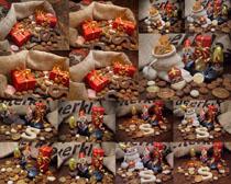 节日装饰礼物摄影高清图片