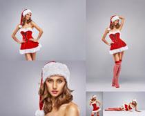 圣诞节服装美女摄影高清图片