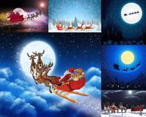 夜空卡通圣诞节摄影高清图片