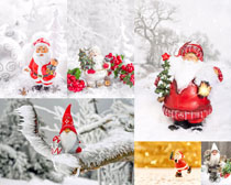 圣诞节装饰老人摄影高清图片