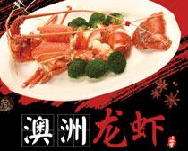 澳洲龙虾宣传海报设计PSD素材