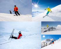 滑雪运动人物摄影高清图片