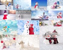 雪人风景摄影高清图片