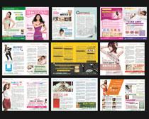 医疗杂志画册设计矢量素材