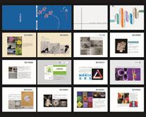 作品集画册设计试矢量素材