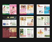 妇科医疗画册设计矢量素材
