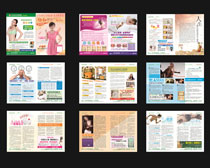 医疗宣传杂志画册矢量素材
