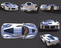 银色跑车拍摄高清图片