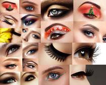 女子睫毛摄影高清图片