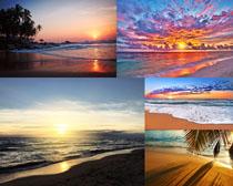 海边夕阳风光拍摄高清图片