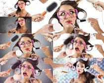 发型美容搞怪女人摄影高清图片