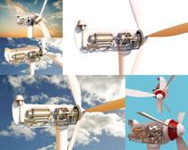 机械风车摄影高清图片