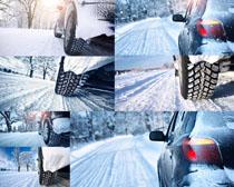 汽车雪地摄影高清图片