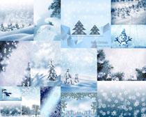 雪花雪人风景摄影高清图片