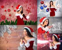 圣诞节美女拍摄高清图片