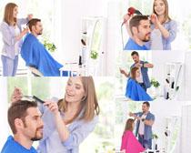 剪发欧美男人摄影高清图片