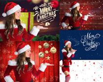 圣诞节美女拍高摄清图片
