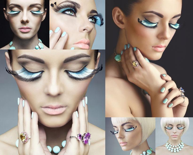 化妆睫毛女人摄影高清图片