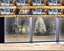 室内圣诞节窗外摄影高清图片