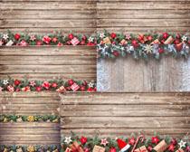 圣诞节木板装饰摄影高清图片