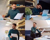 办公的欧美男人摄影高清图片