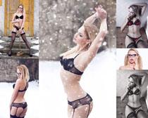 内衣平面欧美模特女人摄影高清图片