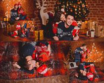 圣诞情侣人物拍摄高清图片