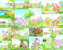 卡通动物画摄影高清图片