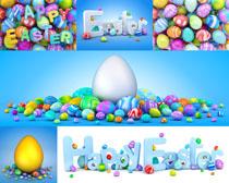 字母与彩蛋摄影高清图片