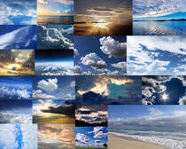 蔚蓝的天空白云摄影高清图片