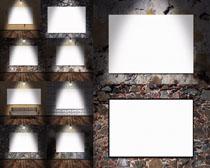 墙壁展示背景摄影高清图片