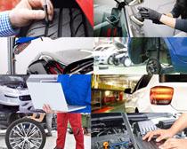 汽车专业保养摄影高清图片