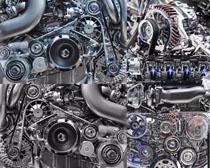 汽车发动机机械摄影高清图片