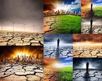 干旱景观拍摄高清图片