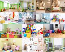 漂亮的儿童房间摄影高清图片