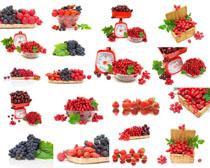 葡萄草莓水果拍摄高清图片