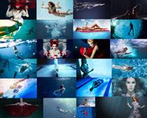 水下比基尼美女摄影高清图片