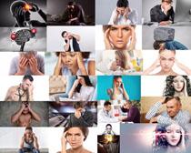 头痛人物拍摄高清图片