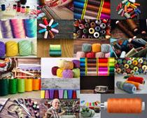 色彩毛线用品摄影高清图片