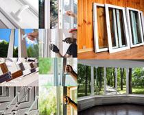 家居窗户木板摄影高清图片