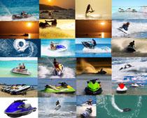 速度快艇男人摄影高清图片