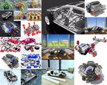 汽车发动机展示拍摄高清图片