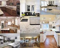 家庭厨房室内风格拍摄高清图片