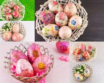 彩色艺术蛋摄影高清图片