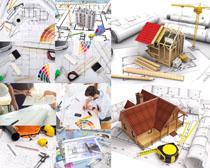 建筑方案图纸拍摄高清图片