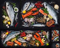 海鲜原材料摄影高清图片