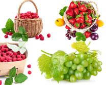 葡萄草莓樱桃拍摄高清图片
