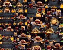 汉堡包薯条饮料摄影高清图片