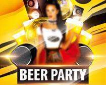 啤酒节派对宣传海报PSD素材