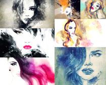 水墨女子画拍摄高清图片